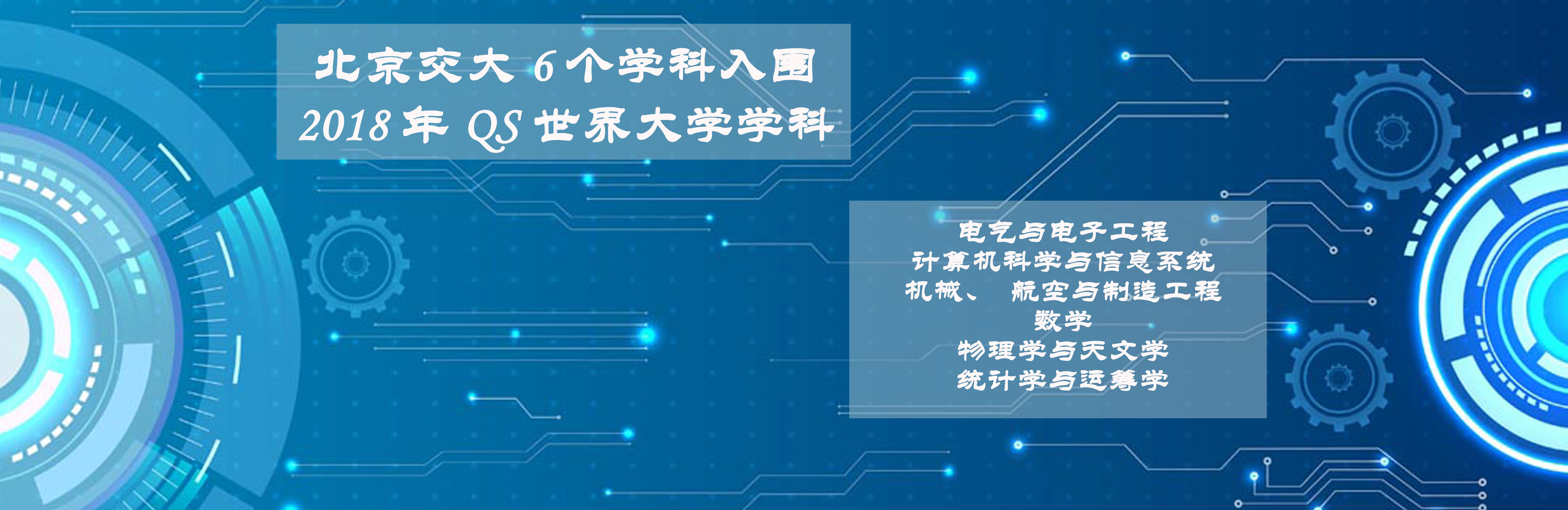 北京交大6个学科入围2018年QS世界大学学科排名